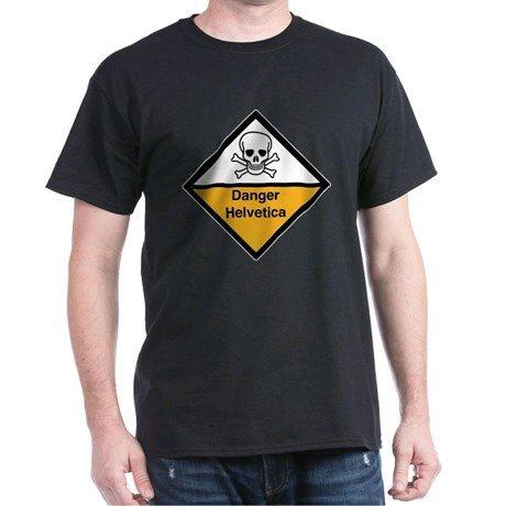 Look Around You: Danger Helvetica Shirt £17.50 @ CafePress