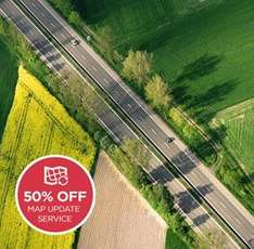 MAP UPDATE SERVICE 50% OFF BENEFIT FROM 5 MAP UPDATES AT A FRACTION OF THE PRICE! £19.98 tomtom
