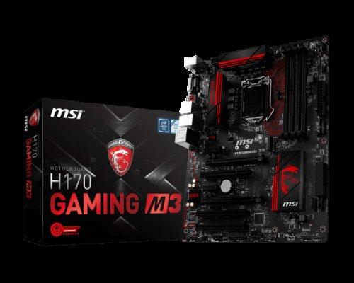 MSI H170 Gaming M3 Motherboard (DDR4-SDRAM, DIMM, Serial ATA III) £88.99 @ Amazon