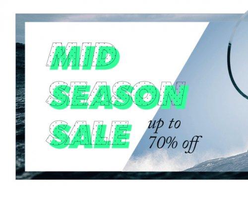 Mid season sale, upto 70% off brands - North Face, Converse, Quicksilver, Billabong & more @ Surfdome