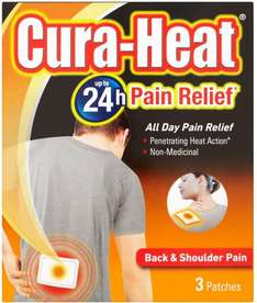 Cura-Heat Back & Shoulder Pain Pads (3) was £3.50 now £1.75 @ Sainsbury's