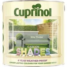 Cuprinol Garden Shades £2 for 2.5Lt and £1 for 1Lt in Belle Vale Wilko.