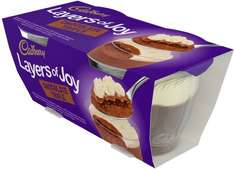 Cadbury Layers of Joy - Jaffantastic (2 x 90g) was £1.00 now any pack of 2 desserts for the price of 1 @ Ocado