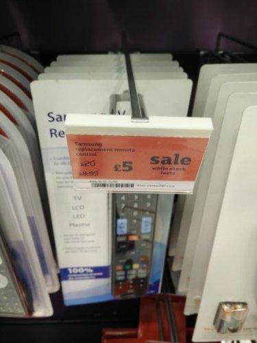 Samsung replacement remote £5 @ Sainsbury's