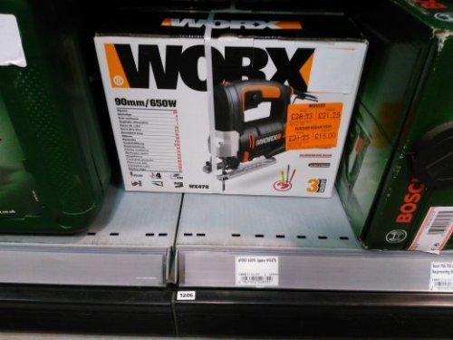 Worx 650w jigsaw £15 @ Homebase in Portishead