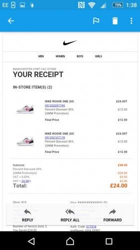 nike roshe £12 @ Nike Outlet