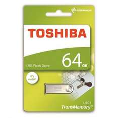 Toshiba TransMemory Mini Metal USB 2.0 Key Ring Flash Drive - 64GB £4.99 @ 7dayshop