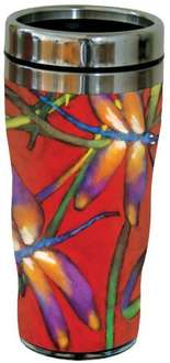 Tree-Free Greetings 16 oz Stainless Steel Deux Libellules Collectible Art Sip 'N Go Travel Tumbler, amazon add on item - £2.50(was£10.98)