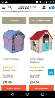 Frozen Plastic Playhouse £35 Tesco