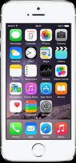 Iphone 5s 16gb Silver 'Almost Perfect' condition £129.99 @ o2 Shop.