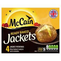 3 boxes of McCain 4 Ready Baked Jackets '4pack' £5.00 @ FarmFoods