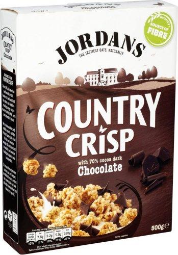 Jordans Country Crisp with 70% Cocoa Dark Chocolate / Chunky Nut / Luxery Raisins / Raspberry / Strawberry (500g) was £2.69 now £1.34 @ Tesco
