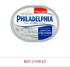 Philadelphia Regular Soft Cheese 280g / 270g was £2.42 each now two for £2.00 in store & online @ Morrisons