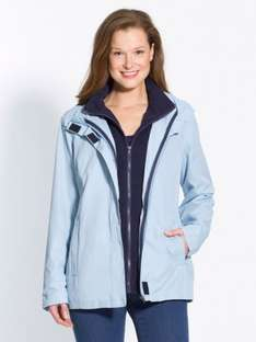 £10 of a £20 Spend using code - Works on some Sale items! Ladies 3-in-1 Parka blue £12 with FREE Delivery @ Daxon -