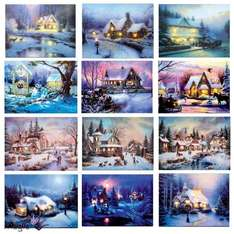 Canvas LED Christmas pictures £4.99 Boyes