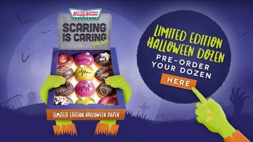Limited Edition Halloween Dozen Zombie Doughnuts + FREE Free Halloween Activity pack for Kids @ Krispy Kreme