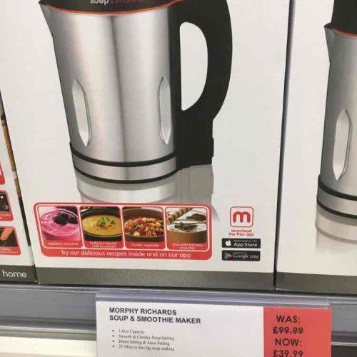 Morphy Richards Soup & Smoothie Maker £39.99  Co-op