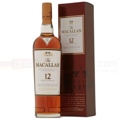 The Macallan 12yo 70cl sherry finish malt whisky £44.99 / £49.94 delivered @ drinksupermarket.com (£15 off)