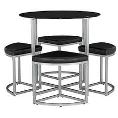Tokyo Round Space Saver Dining Table and 4 Stools £54.99 -Argos/Delivery from: £6.95