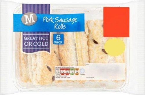 Morrisons Pork Sausage Rolls 6 x 66g was £1.75 now £1.00 @ Morrisons
