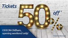 50% off @ ODEON Oldham this weekend