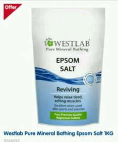 Westlab Pure Mineral Bathing Epsom Salt 1KG £2.49 @ Boots