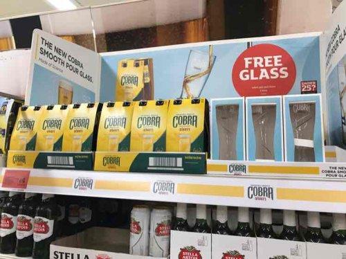Free cobra glass when you buy 4x 330ml bottles of cobra £4 instore @ sainsburys