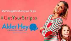 Alderhey  Get Your Stripes Christmas Pyjamas £8 Matalan (free to click and collect or £3.95 delivery)