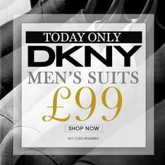 DKNY Suits 1 Day Promo £99 !!!!! £104.99 delivered @ Cruise Fashion