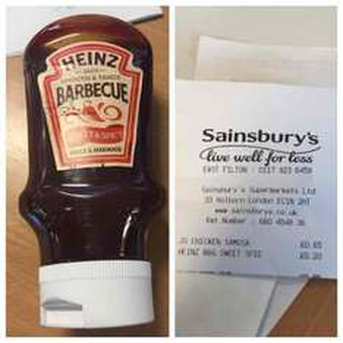 Heinz BBQ sweet & spicy sauce/marinade 20p @ Sainsbury's - Abbey Wood Bristol