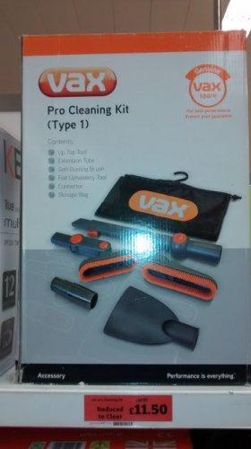 Vax Pro Cleaning Kit Type 1 £11.50 - Sainsbury's Instore