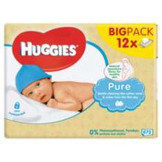 Huggies Wipes - 12 x 56 pack - £7 @ Boots