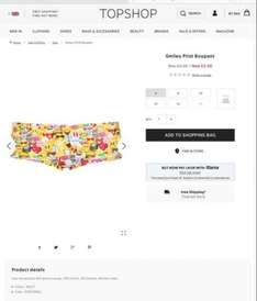 Topshop smiley print boypant now only £1 with free c&c