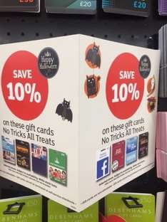 10% off giftcards instore @ Sainsbury's combine with other existing offers / deals
