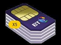 New Family Sim plans from BT Mobile. Some great savings to be had when ordering multiple plans e.g. 500Mins, Unlimited Texts, 2GB Data x 5 =36PM (BT Cust) PLUS £40 iTunes/Amazon Gift Card £432.00
