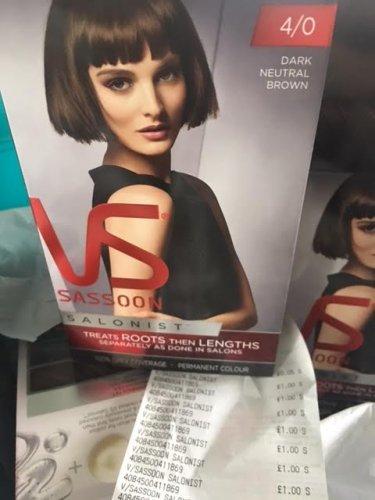 Vidal Sassoon Salonist Hair Dye £1.00 @ Poundworld