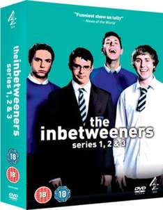 Inbetweeners dvd (Used) Boxset 1 2 3 classic teen angst comedy £1.59 delivered at music magpie / zoverstocks with code HALFTERM20