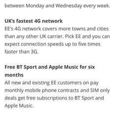 Apple Music free for 6 months, New Customers (Pay Monthly) @ EE