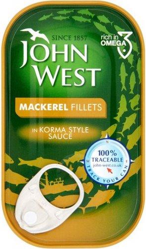 John West Mackerel Fillets In Tomato Sauce 125g was £1.00 now 70p @ Morrisons