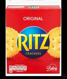 Ritz the original or Cheese snack cracker (200g) in store and online 75p @ Tesco