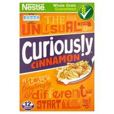 Nestle Curiously Cinnamon Cereal 375g was £2.47 now £1.00 @ Morrisons