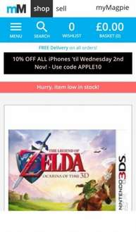 Pre-owned Legend of Zelda: Ocarina of Time 3D Nintendo 3DS - £12.15  musicMagpie