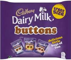 Cadbury Dairy Milk Buttons Treatsize Chocolate Bag (12 x 14.8g) was £2.50 now £1.50 @ Sainsbury's