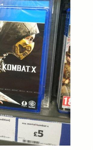Mortal kombat X for ps4 £5.00 @ sainsbury's
