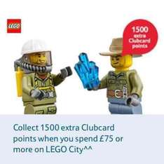 1500 extra Clubcard Points when you spend £75 or more on Lego City @ Tesco