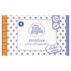 Little Angel Sensitive Wipes £7.50 for box of 12x80 @ Asda