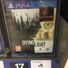 Dying Light & Shadow of Mordor for £5 each PS4 Sainsburys Instore