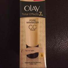 olay total effects pore minimiser CC cream instore Boots Barking £4