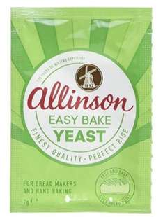 Allinsons Easy Bake Yeast Twin pack 7g (Pack of 24) £3.36 - amazon add on item