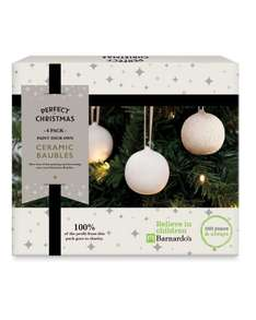 Aldi Barnardo's Round Bauble 6 Pack 1.99 free delivery 100% of profit goes to barnardos (online & instore from 27th Oct)
